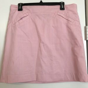 Pink and white skirt